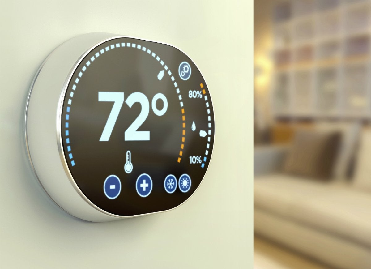 Install programmable thermostat