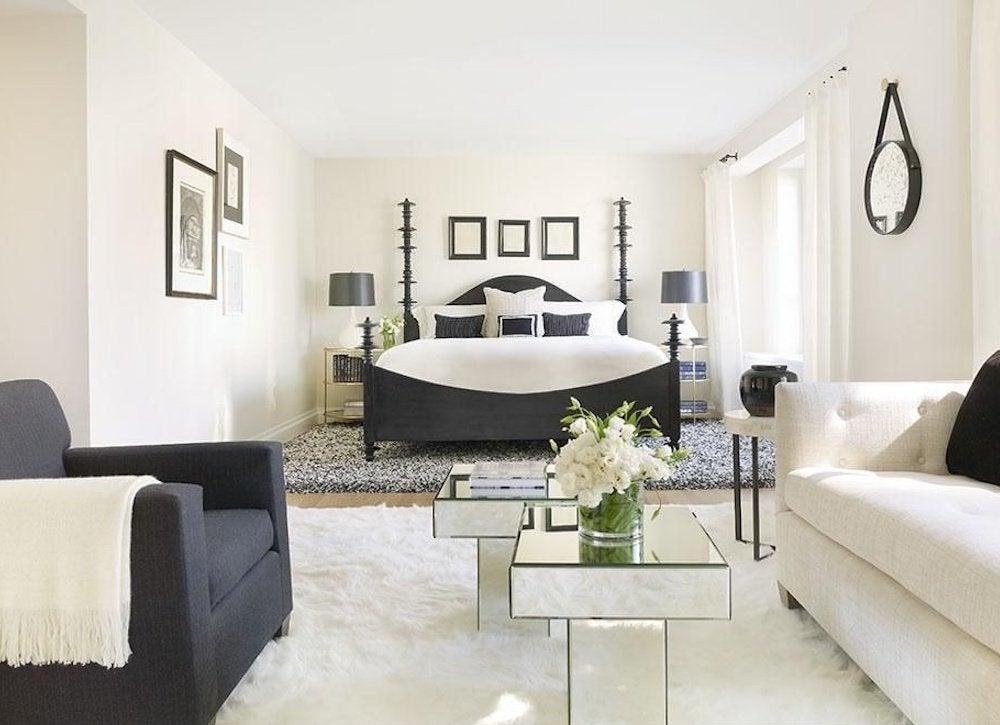 Black accent master bedroom