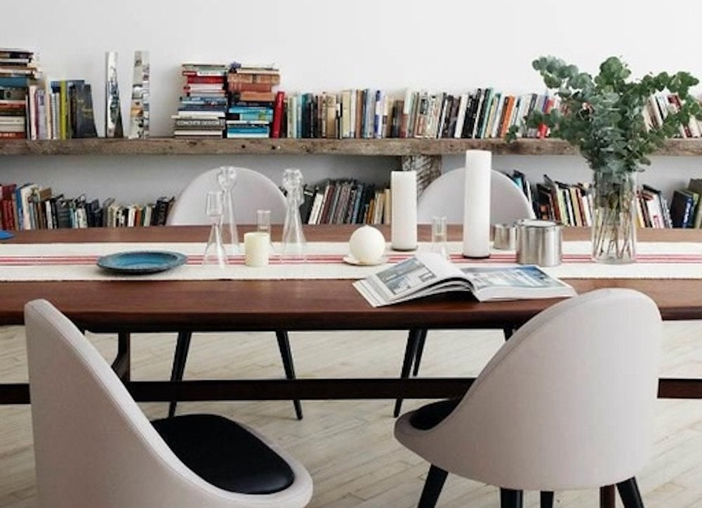 White-library-dining-room