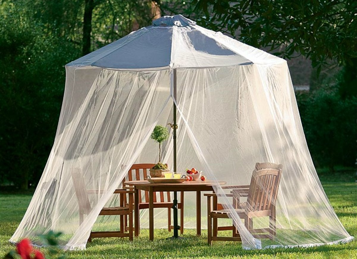 Umbrella mosquito net canopy