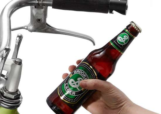 Bike Handle Beer Opener