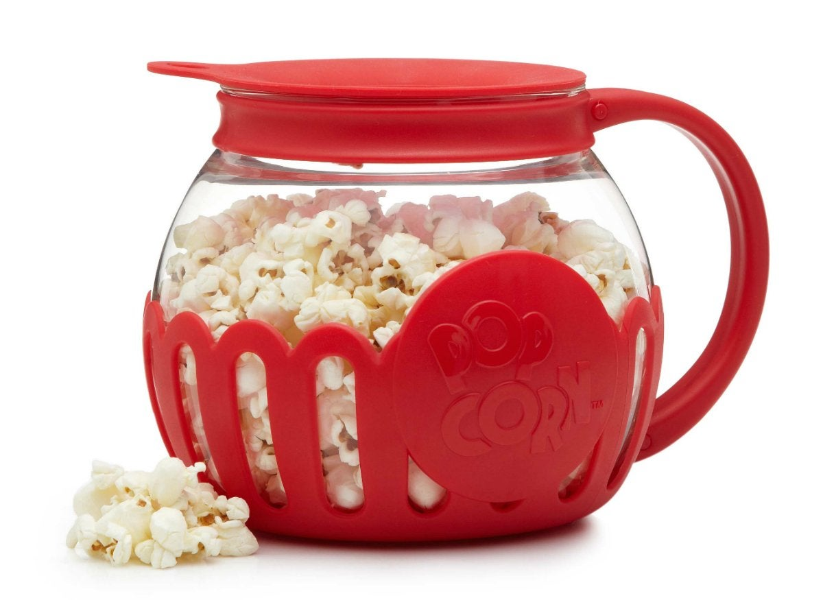 Microwavable popcorn popper