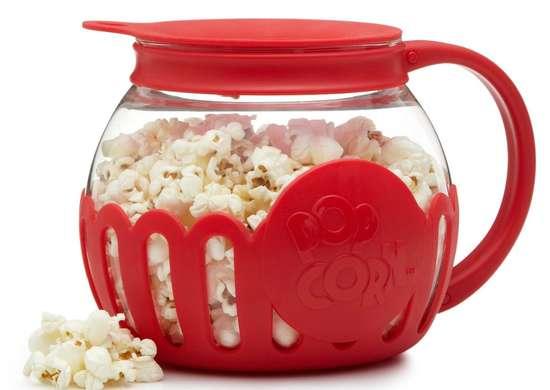 Microwavable popcorn popper