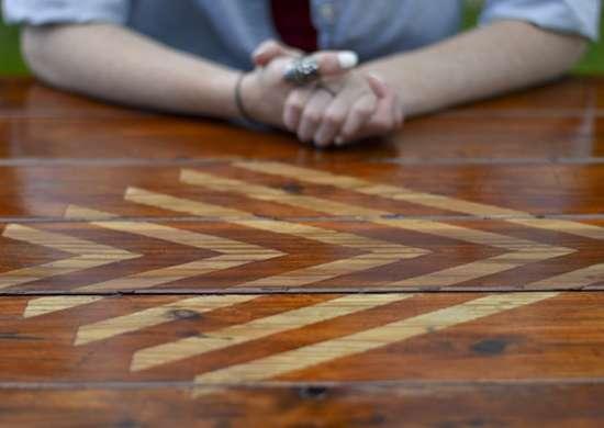 Wood Picnic Table Inlay