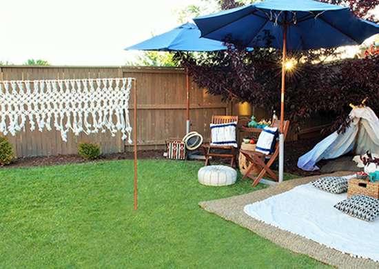 DIY Macrame Badminton Net