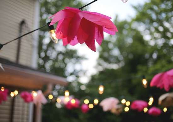 Decorative string lights for patio