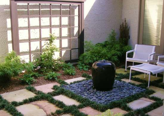 Grass and pavers landscaping