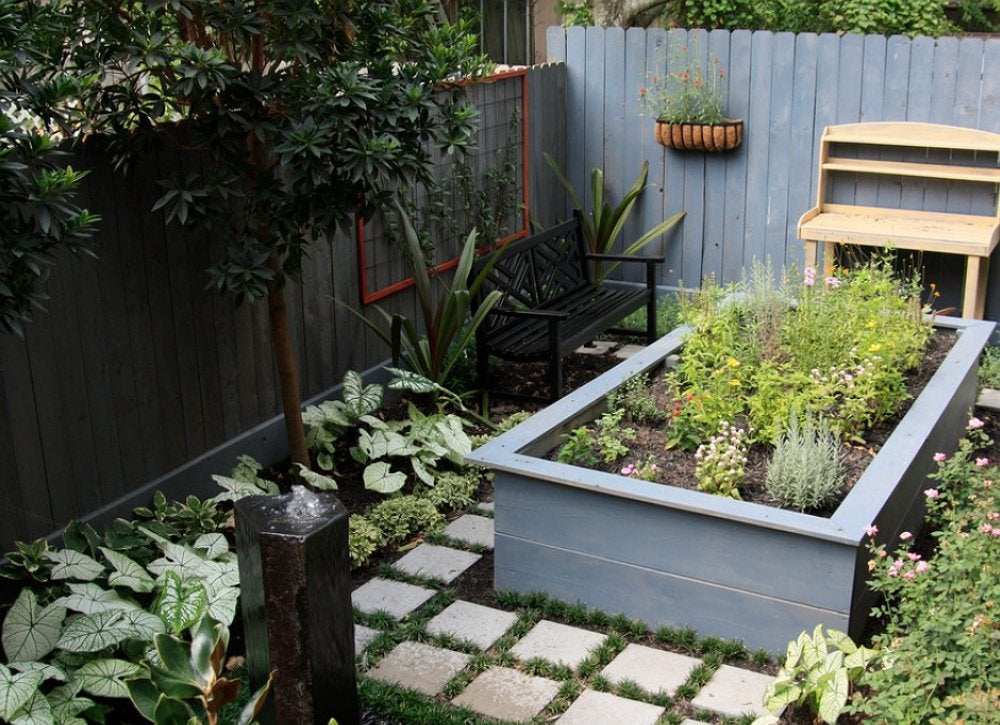 Small Garden Ideas - 12 Clever Ways to Design Yours - Bob Vila on vegetable garden designs for small yards, lawn care designs for small yards, pavers designs for small yards, decks designs for small yards,