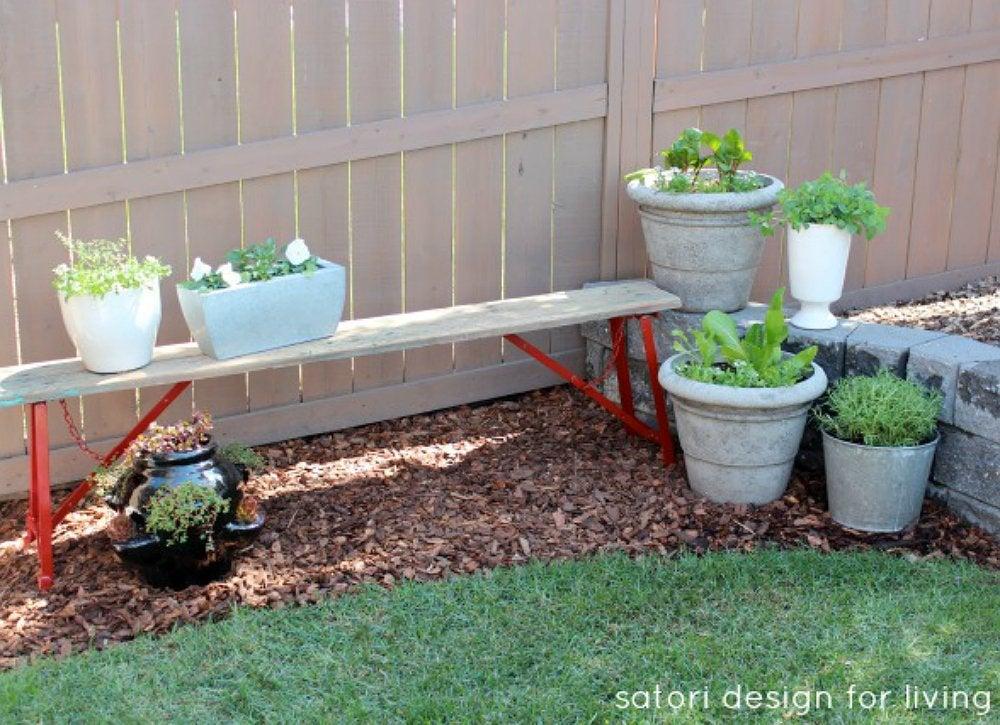 Backyard corner garden