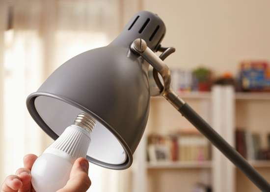 Replace incandescent lighting with led bulbs