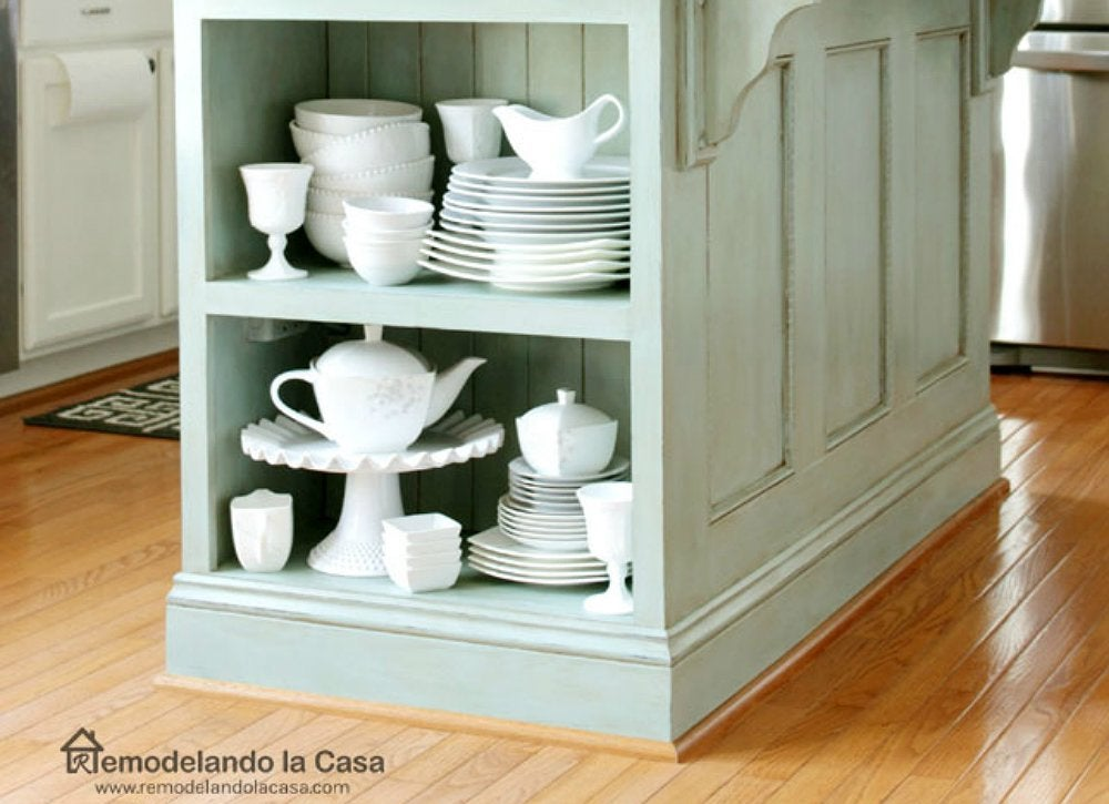 Diy kitchen island storage