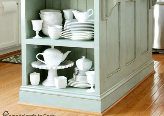 Make a Kitchen Island with Side Storage