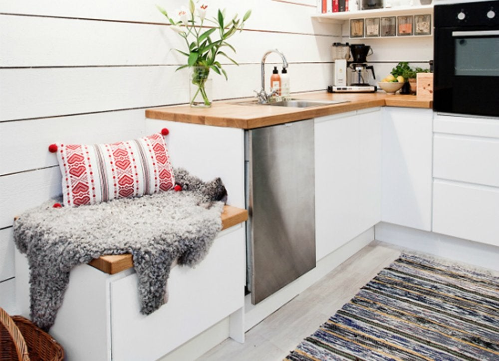 Kitchen bench hidden storage
