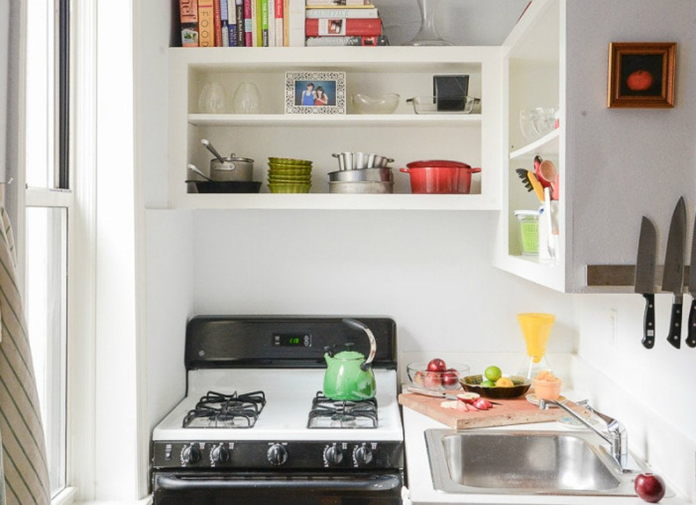 Consider open storage kitchen