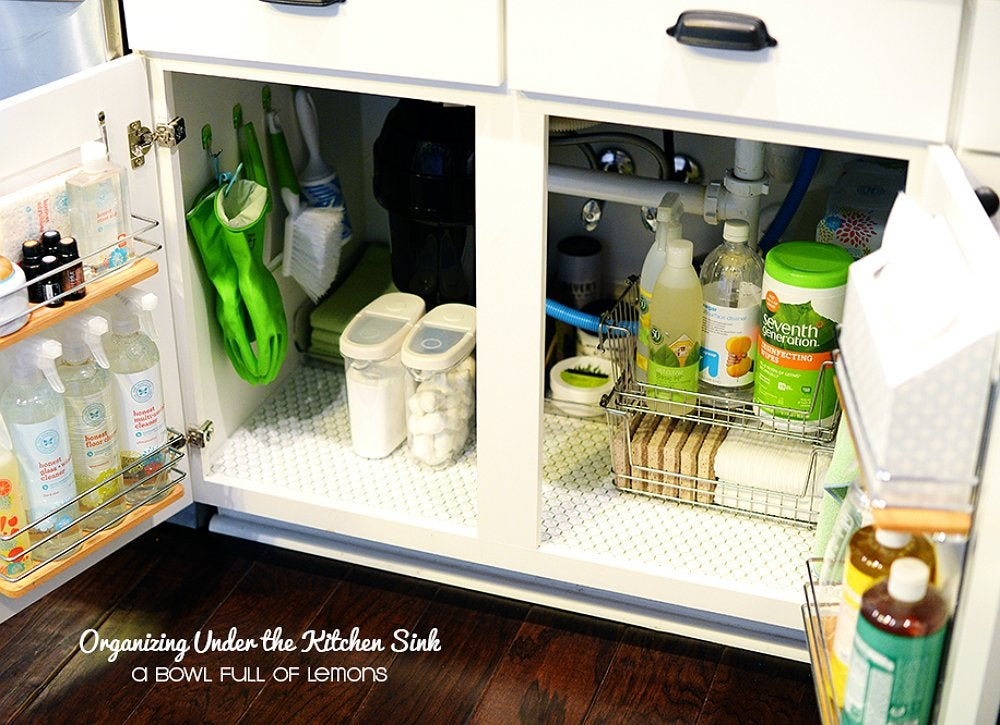 Organize space under sink