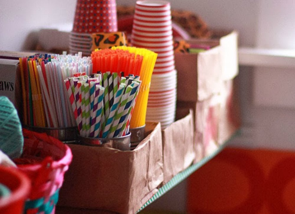 Diy upcycled paper bag kitchen organizer