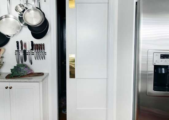 Pocket door installation small kitchen
