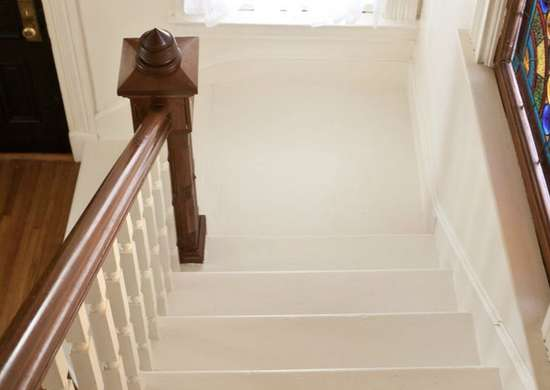 Bright-white-painted-staircase