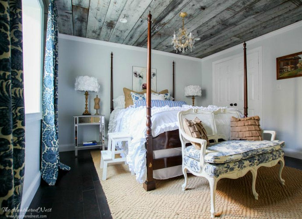 Diy barn wood ceiling
