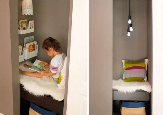 reading nook ideas diy closet reading nook home improvement ideas 14 like 28630