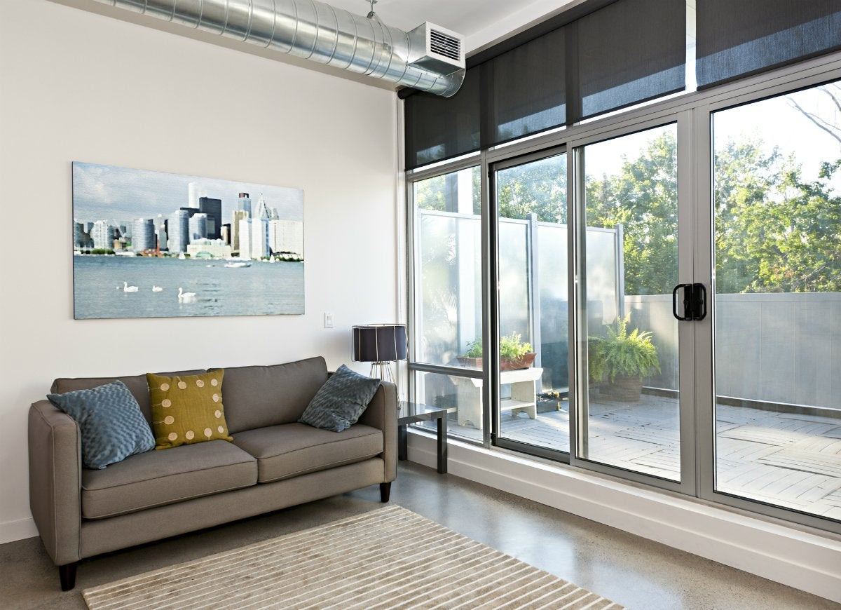Glass wall systems living room