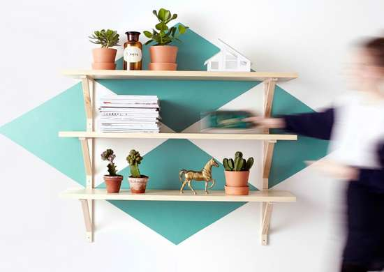 DIY Painted Accent Shelf