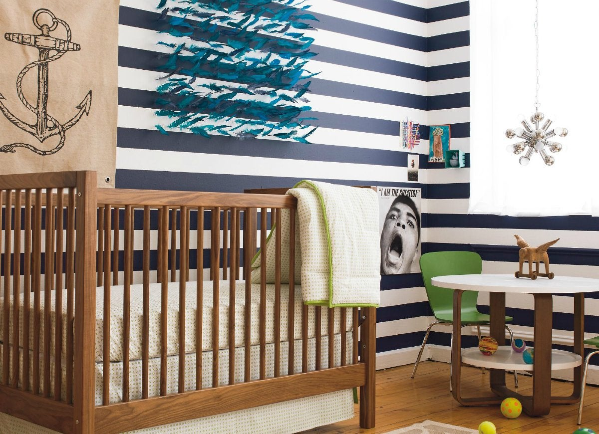 Diy-striped-wall