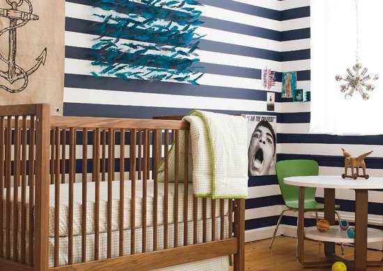 Diy striped wall