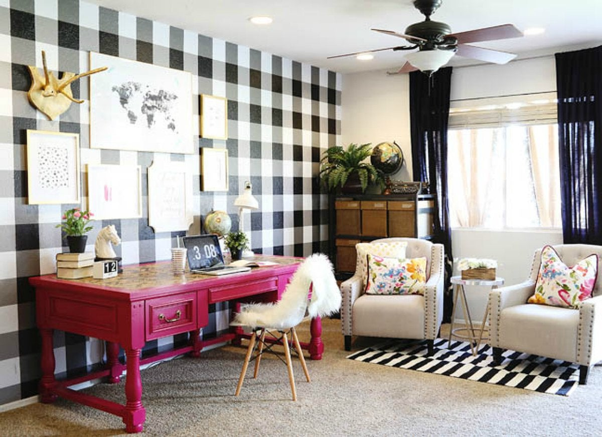 Diy pattern accent wall
