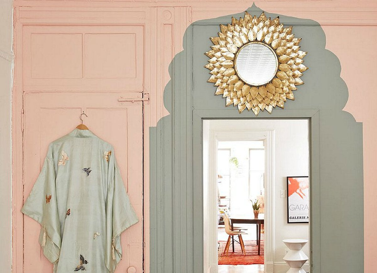 Diy painted doorway