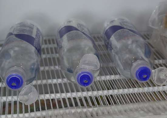 Freeze Half Full Bottles for Ice Cold Water
