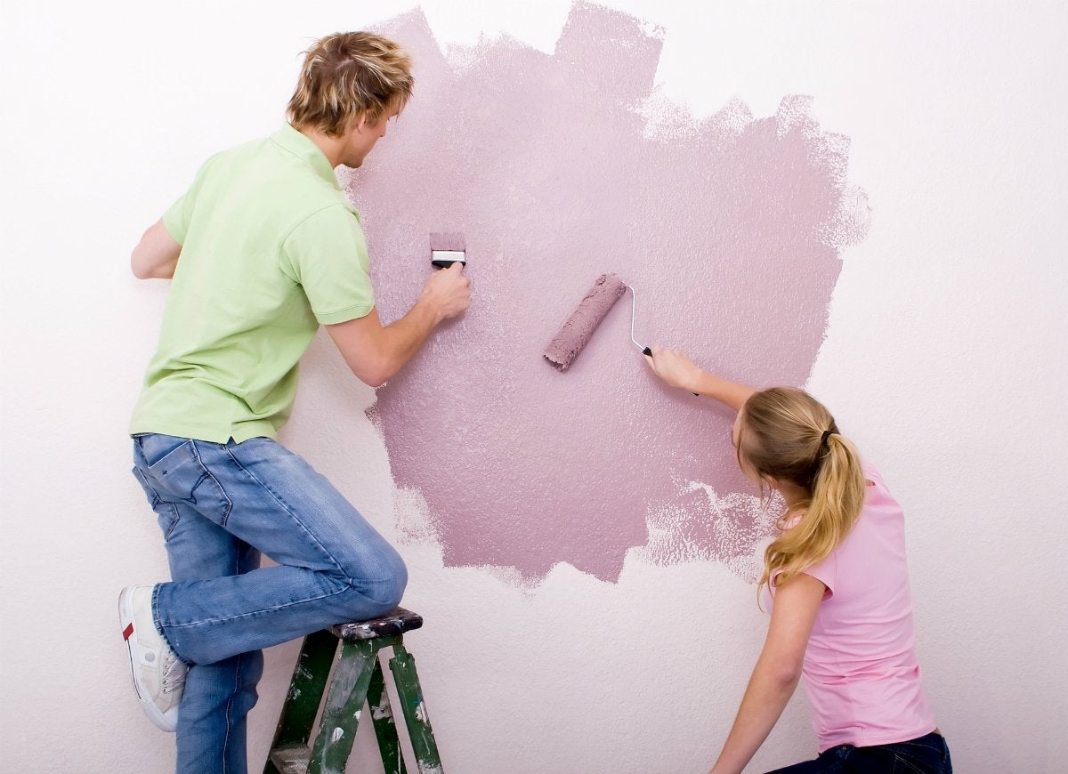Paint some of the wall to test color