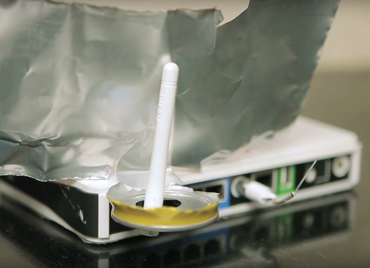 Diy soda can wifi booster