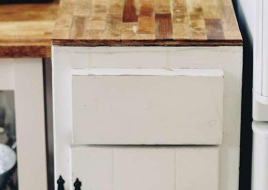 Diy faux butcher block kitchen countertop