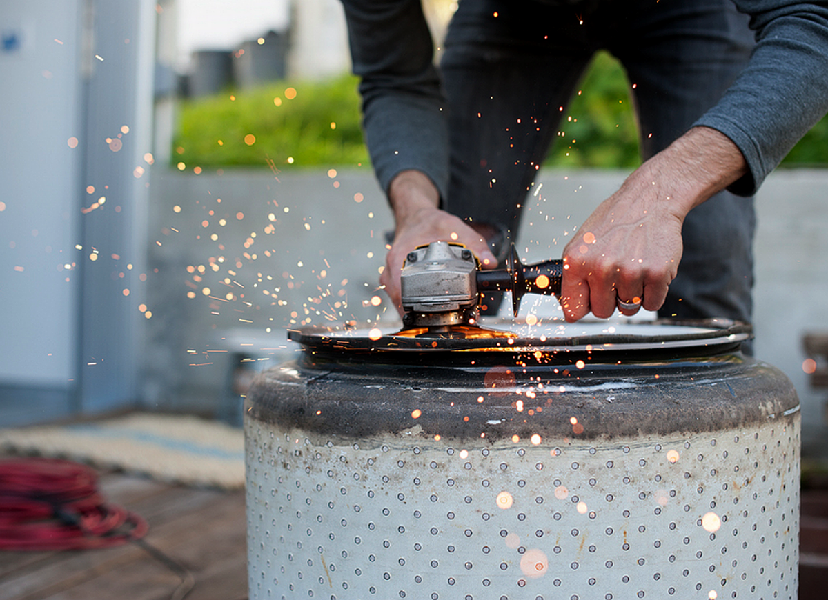 Diy washing machine drum firepit
