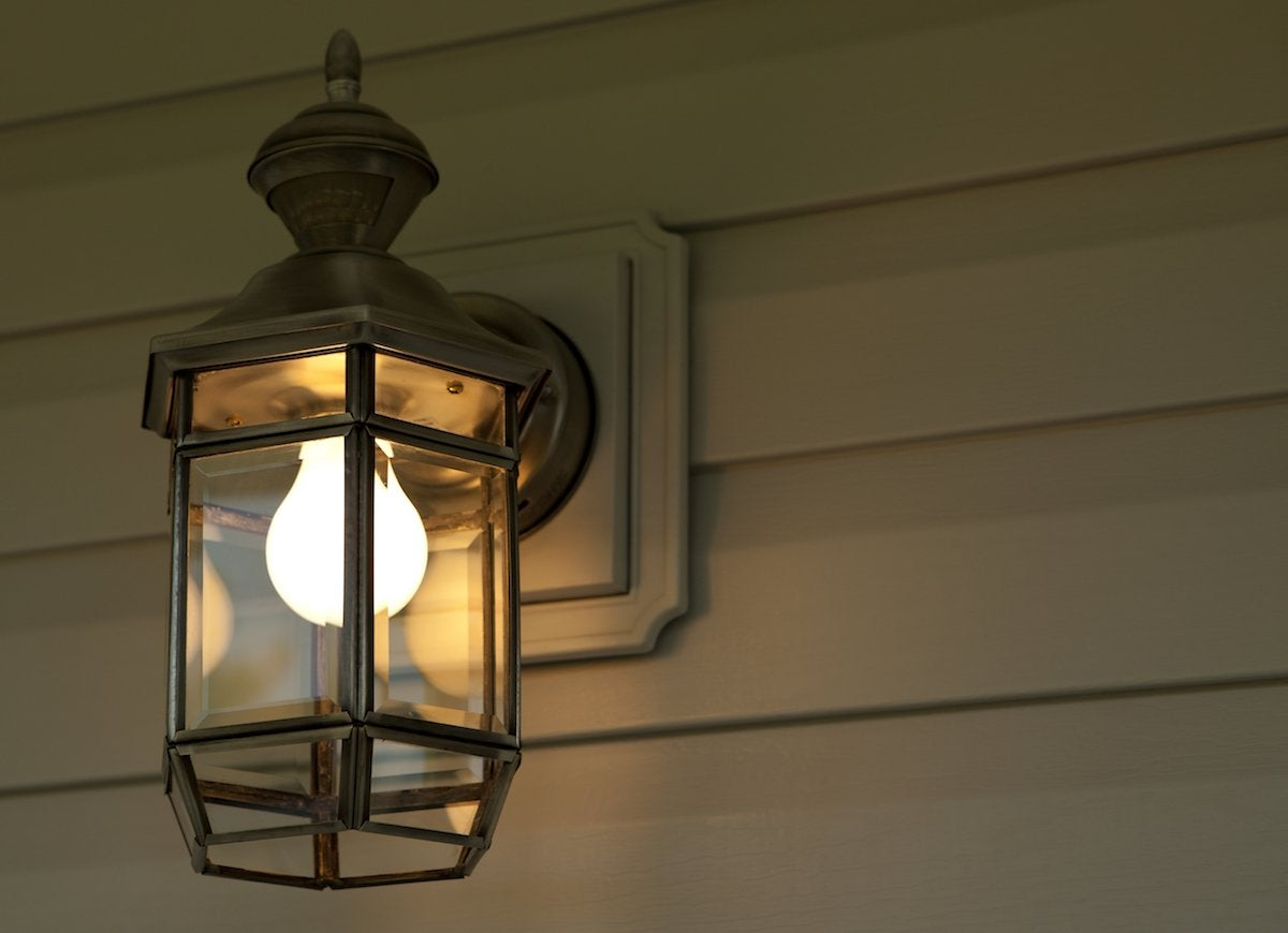 Bug filled exterior lights