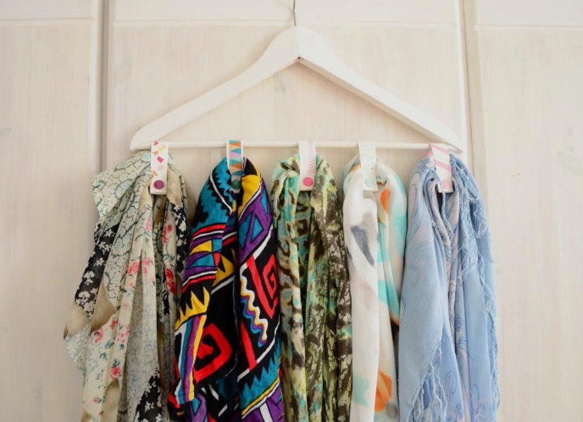 Repurpose hanger accessory organizer