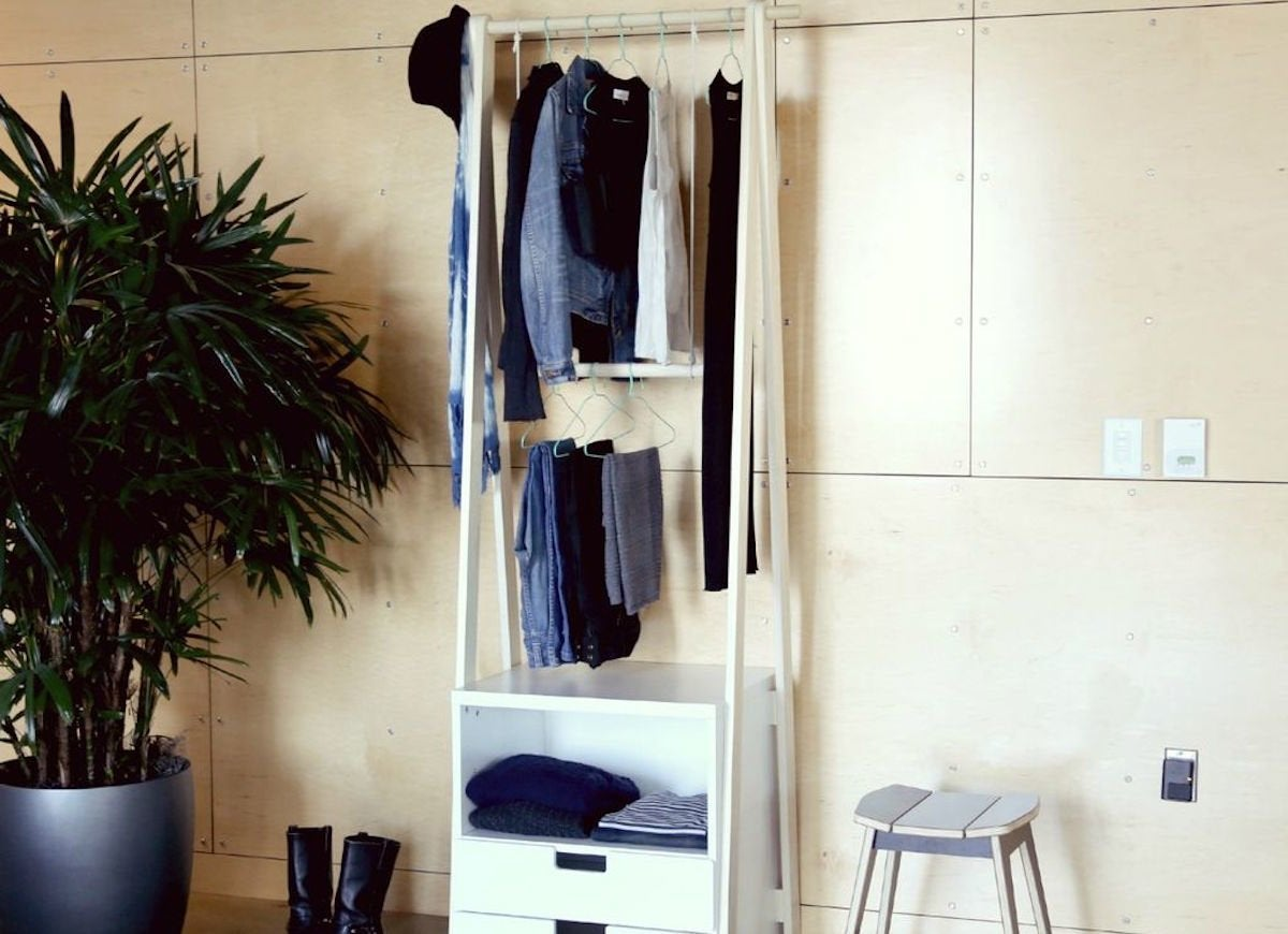 Diy open clothes rack