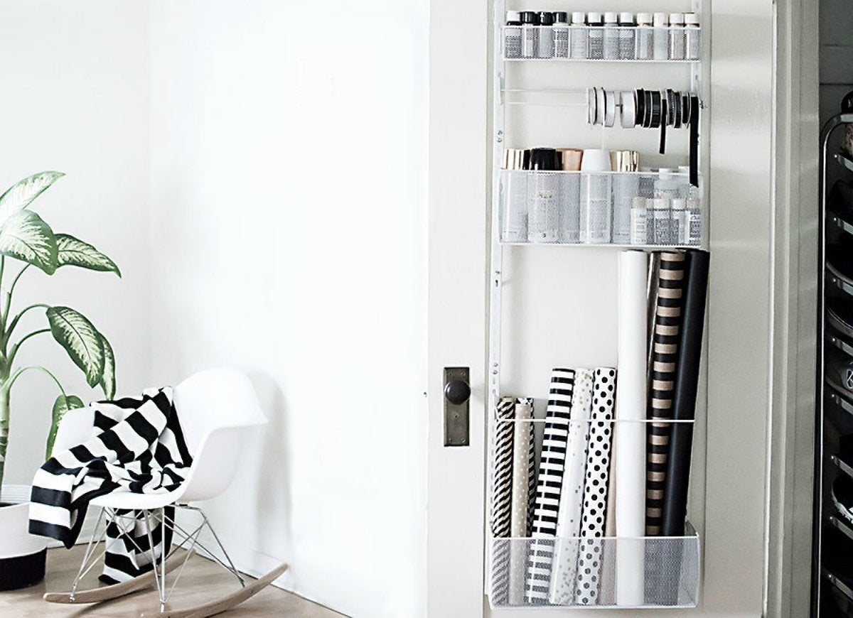 Over door closet organizer