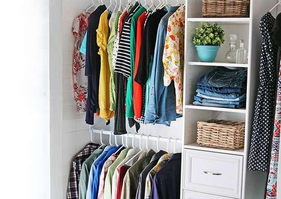 Diy wood closet organizer