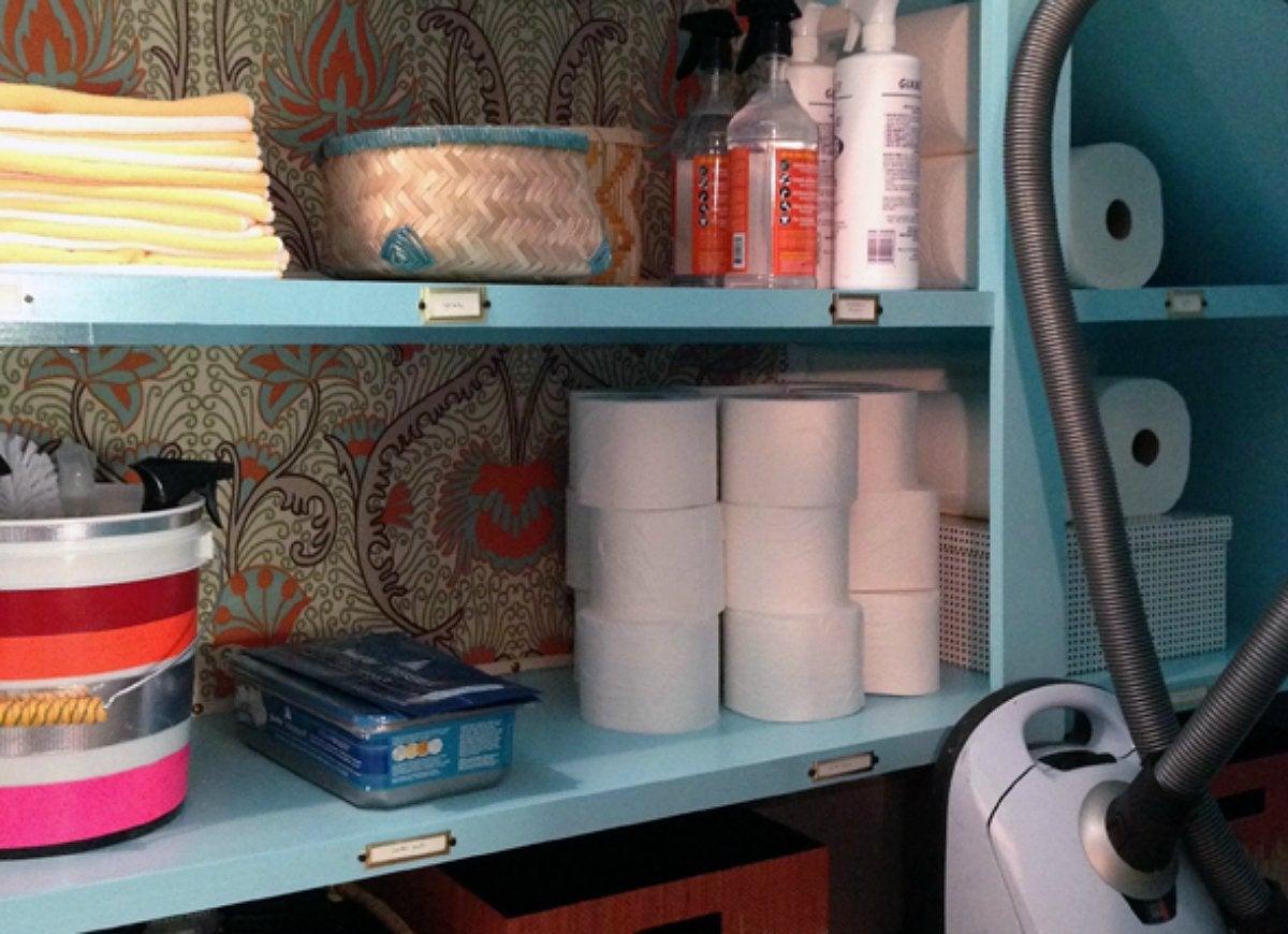 Organize small alcove nook closet
