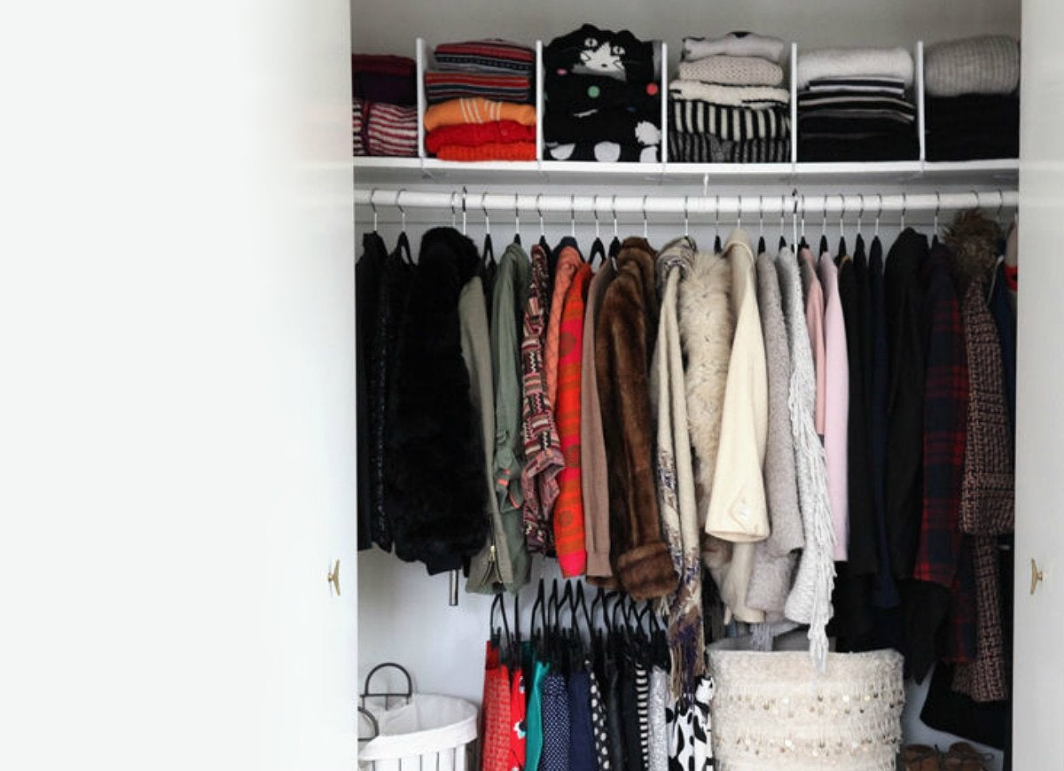 Organize folded clothes with dividers