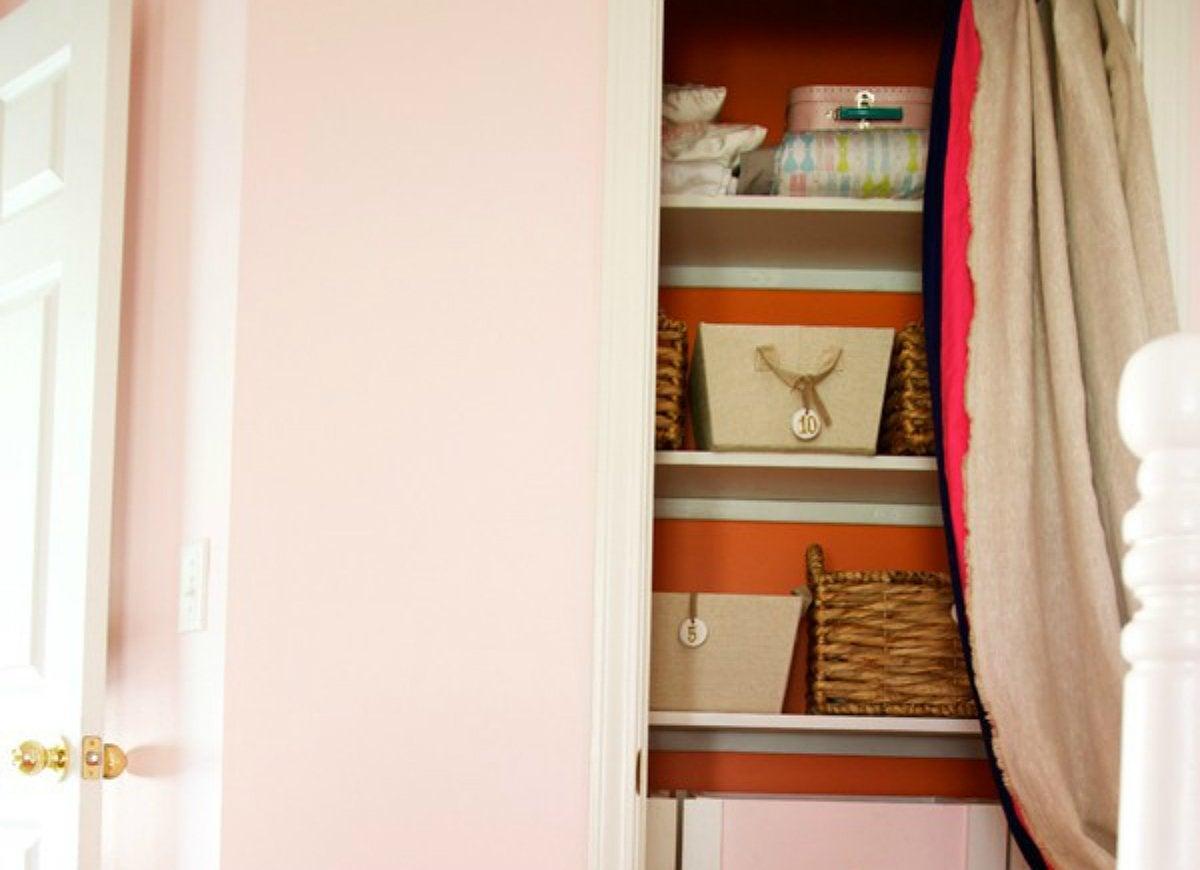 Diy closet curtain