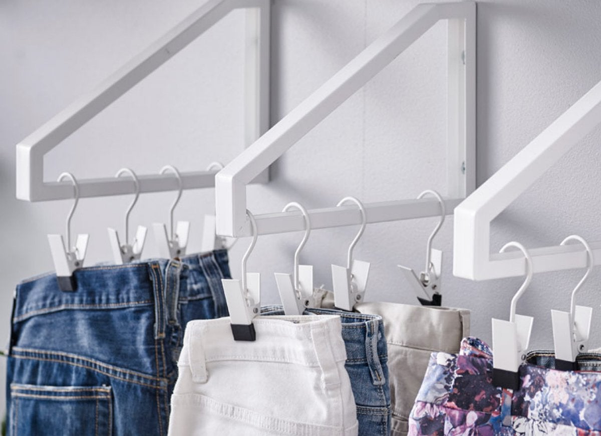 Diy hanging clothes wall shelf bracket