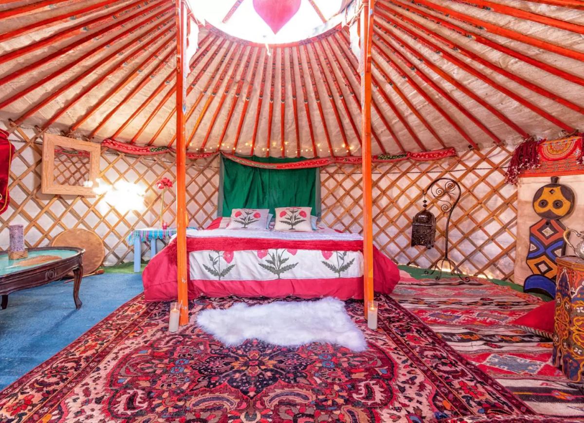 Mongolian yurt airbnb