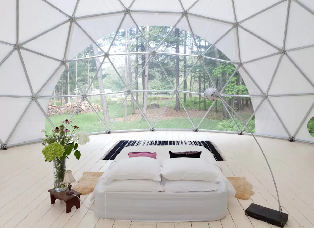 Geodesic dome airbnb