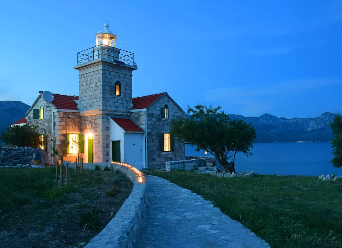 Croatian lighthouse airbnb