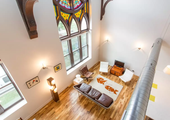 Converted Gothic-Style Church on Airbnb