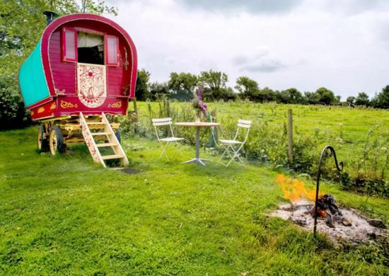 Gypsy caravan airbnb