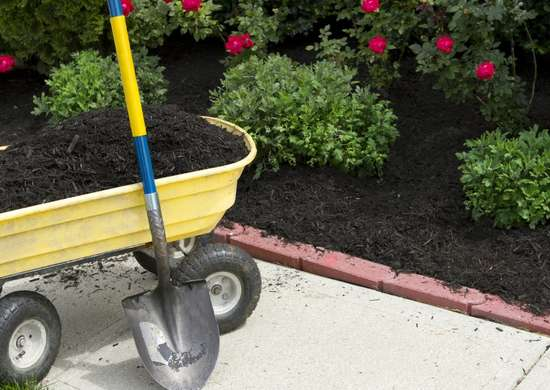 Mulch to retain water in gardens